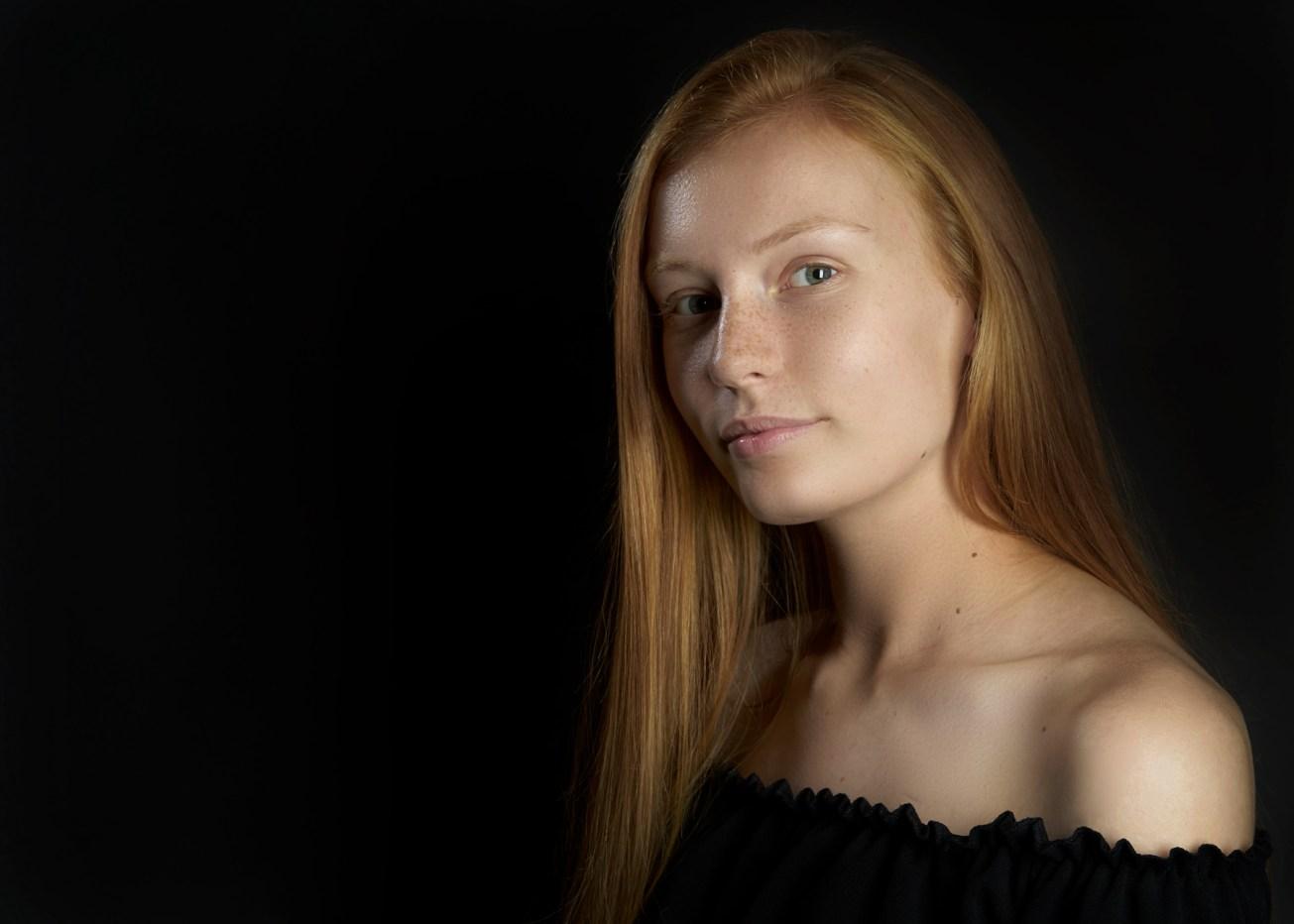 Beauty portrait shot in studio