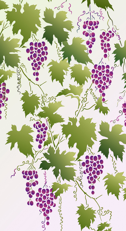 Grapevine Stencil Henny Donovan Motif