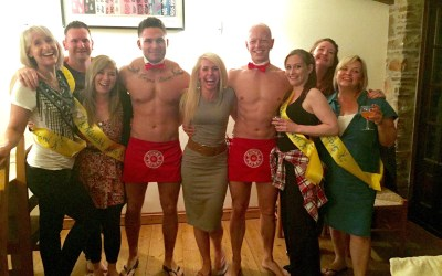 Bristol Buff Butler Hen Party at Box Hedge Farm B&B