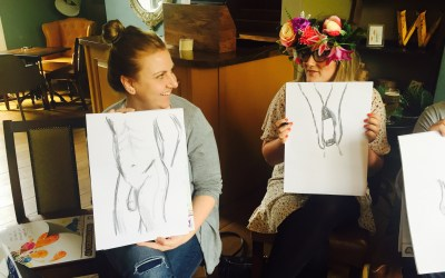 Hen Party Life Drawing in Bath