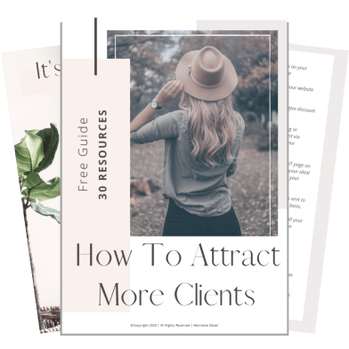 free resource guide 30 resources to attract more clients