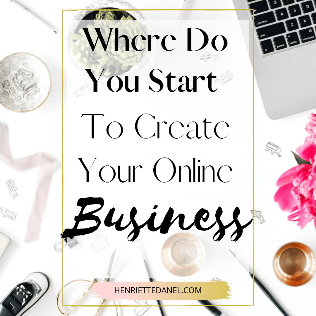 laptop with stationary where do you start to create your online business