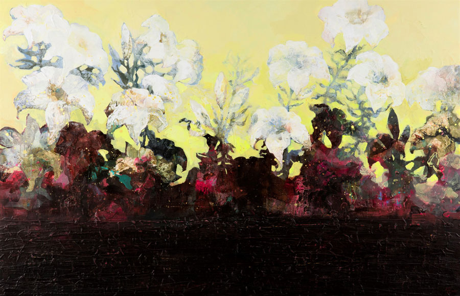 Lillies I: Birth 110 x 170 cm