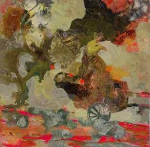 Fuglefant 20×20 cm