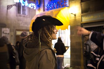 Orlando dressed as Sparrow