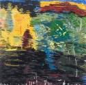 small embroidered landscape 10X10 cm