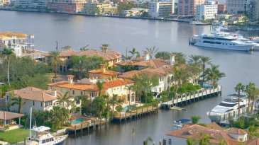 Aerial View Of Fort Lauderdale Waterfront Homes