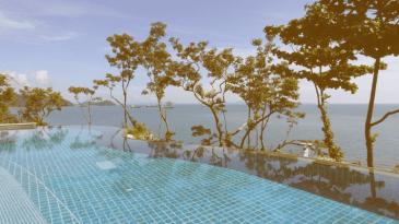 Large Infinite Pool With Ocean View.