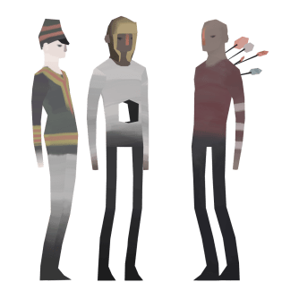 Animated 3D low-poly characters from the game Barmark - 2015