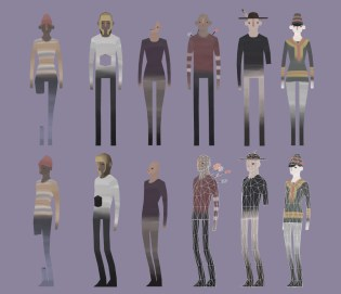 Animated 3D low-poly characters from the game Barmark – 2015