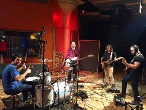 Band In Recording Studio