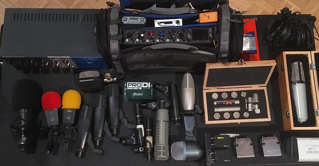 Field Recording Gear Microphones Preamps Sound Devices 664 Mixer Recorder