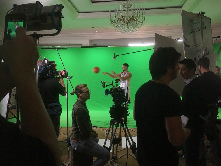 NBA Commercial Shoot with Basketball Player on Green Screen
