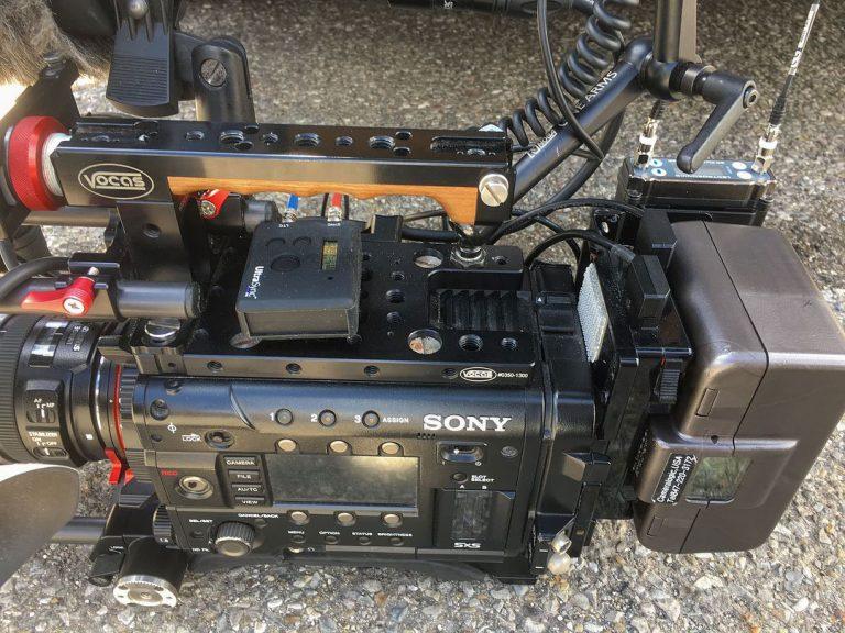 Sony F55 with Timecode / Genlock Sync Box & Wireless Camera Hop