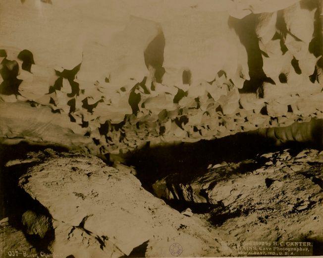 Mammoth Cave, Bacon Chamber, H. C. Ganter, Ben Hains. Source Gallica/BnF