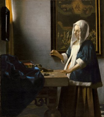 La Femme à la balance, J. Vermeer, v.1664. Source : Washington, The National Gallery of Art.