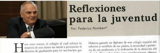 Federico Humbert: Reflexiones para la juventud