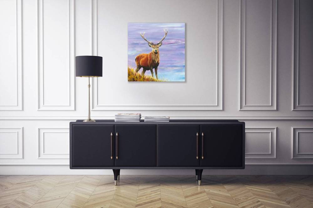 Hillside Stag In Room