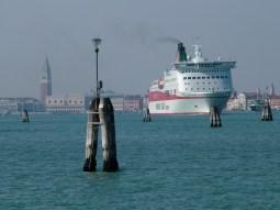 Large ship against Venetian backdrop © Henry Hyde
