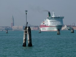 Large ship against Venetian backdrop © Henry Hyde