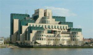 Secret Intelligence Service building Vauxhall Cross Vauxhall London from Millbank
