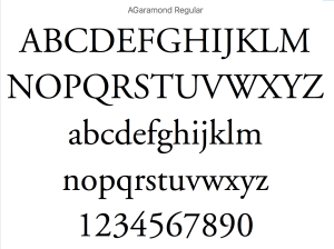 Garamond Regular Fonts