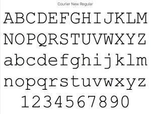 Courier New fonts