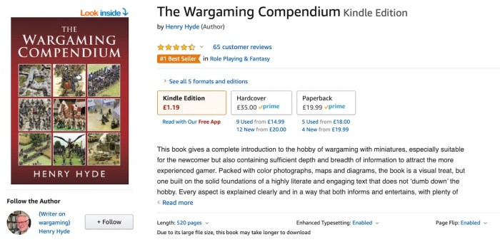 The Wargaming Compendium hits #1 Best Seller status