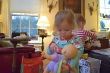 Sophie got her purple baby.