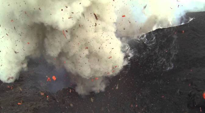 Drone Footage Inside Erupting Volcano