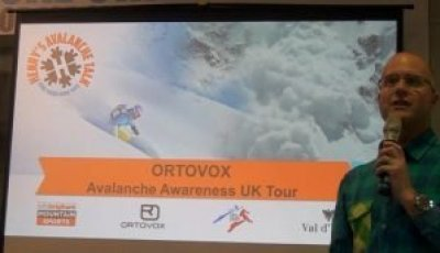 Henry on avalanche awareness tour