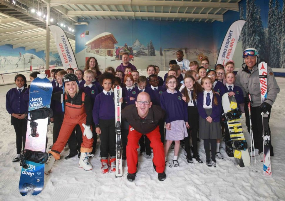 Eddie the Eagle, Aimee Fuller, Graham Bell, National School Snowsports week