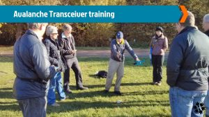 Transceiver training Wimbledon Common, Henry's Avalanche Talk
