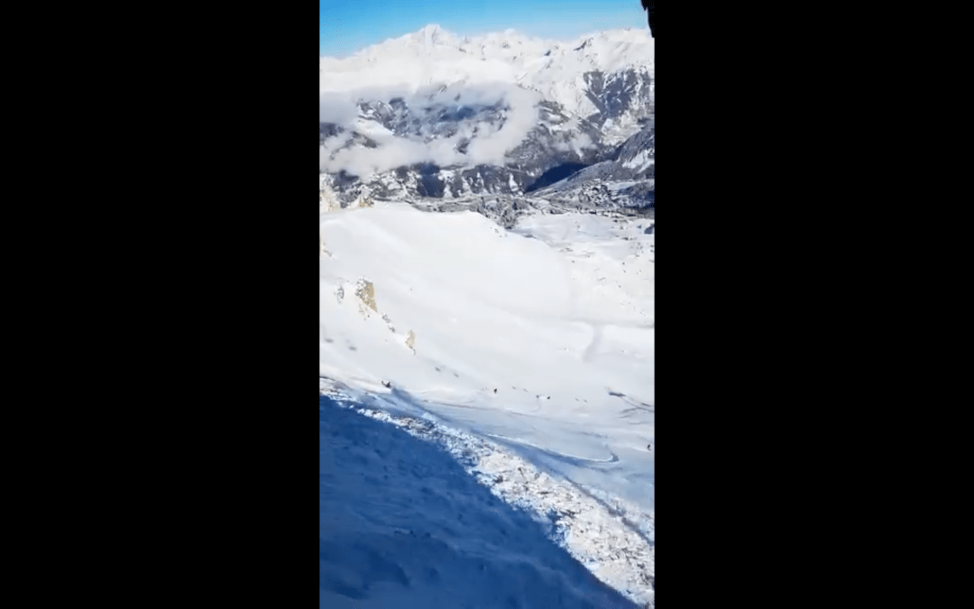 Skier Triggered avalanche Courchevel 13th December 2020