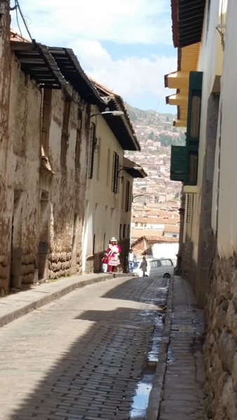 Narrow streets paved with ancient stone
