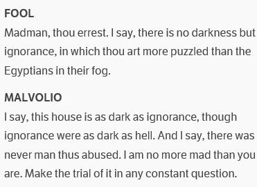 Fool and malvolio