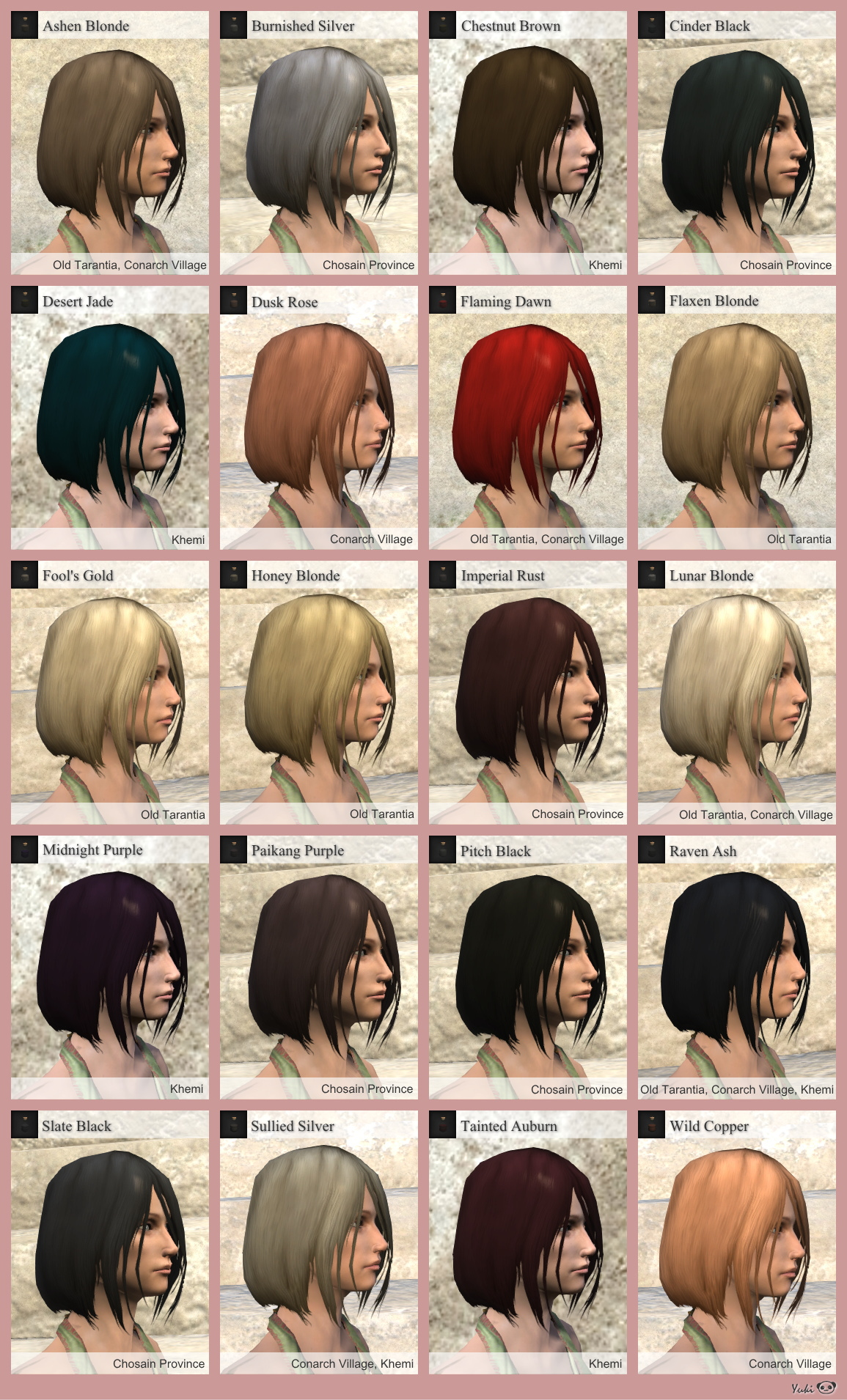 Hair Dye Color List