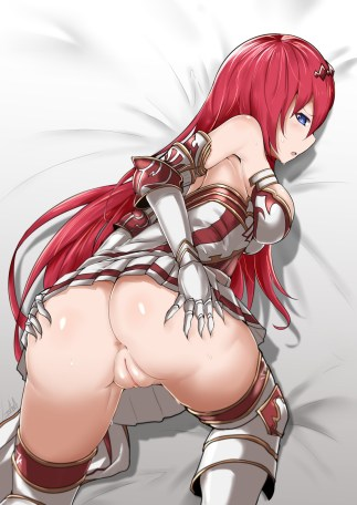 Red-Headed Girl Hentai Drawing 30