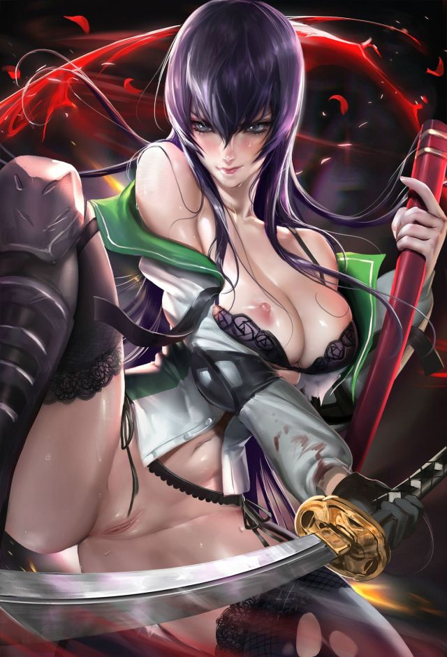 Thirty Hentai Drawings Of Saeko Busujima From Highschool of the Dead