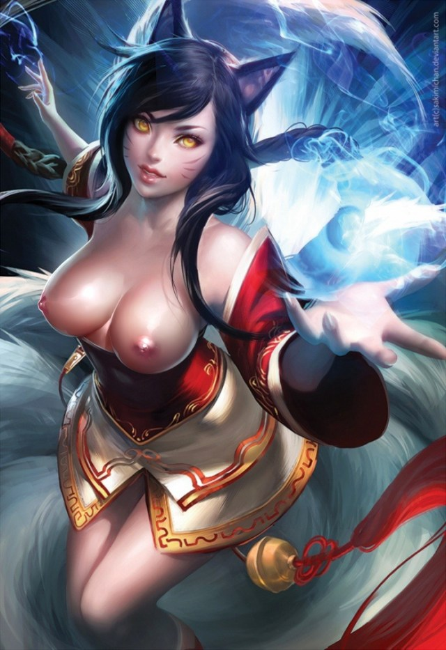 Thirty Hentai Drawings Of Ahri From League Of Legends