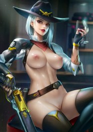Thirty Hentai Drawings Of Ashe From Overwatch