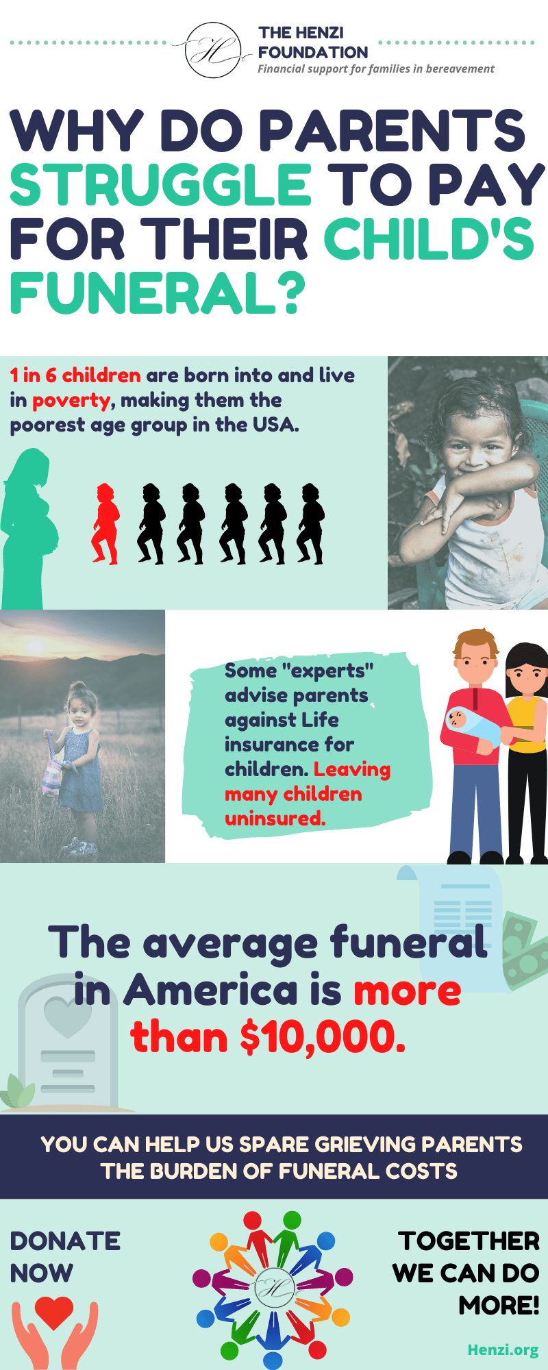 Too many children are underinsured and parents cannot afford a funeral