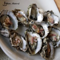 Raw oysters with soy mignonette