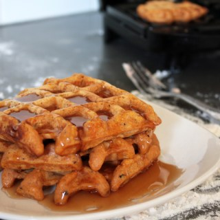 Peppery spiced sweet potato waffles