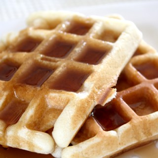 Basic Brussels waffles (yeast-raised)
