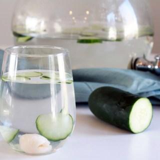 Cucumber lychee sake spritzer