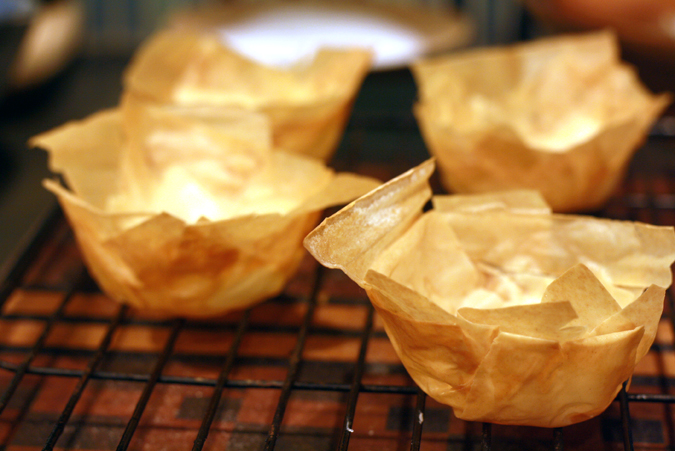 Mini chicken pot pies in phyllo shells | heoyeahyum.com
