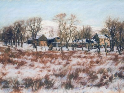Blair Park Farm winter landscape (Dalry, North Ayrshire)