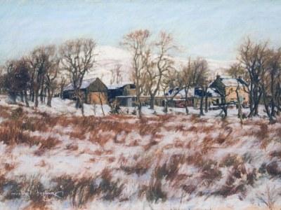 Blair Park Farm winter landscape (Dalry, North Ayrshire)