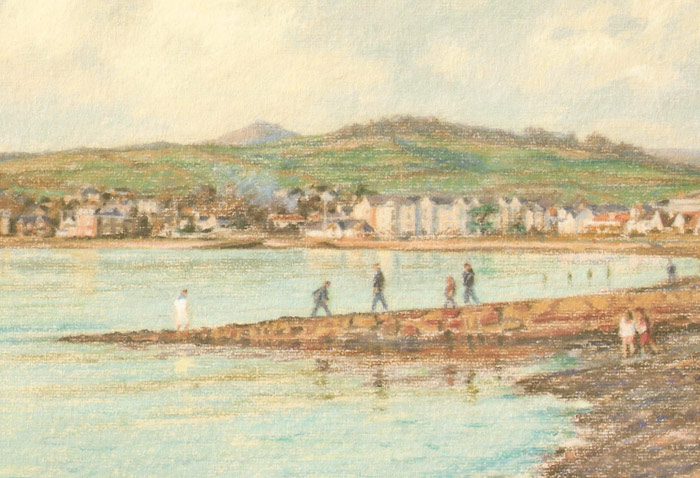 Detail of Michael Hepburn's painting of Largs Bay.